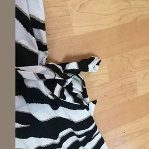 J.B.S. Dresses - JBS zebra white black maxi dress size 3X belt